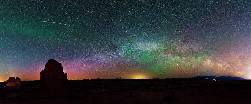 Panorama der Milchstraße  - Arches NP, Utah
