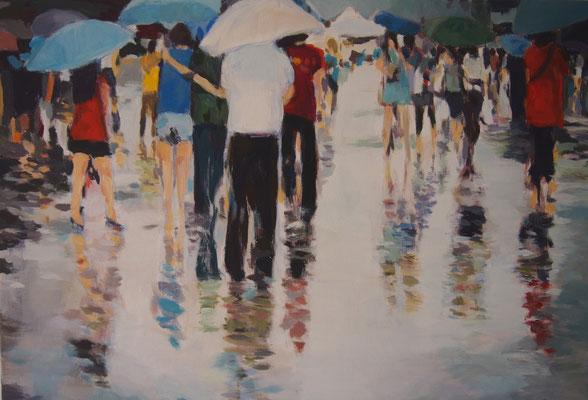 Sommergewitter, Acryl auf Leinwand 50 x 70, 2014 (verkauft)