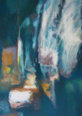 Spiegelung III, Oel auf Leinwand, 50 x 70, 2018