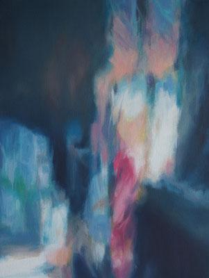 Spiegelung II, Oel auf Leinwand, 30 x 40, 2018