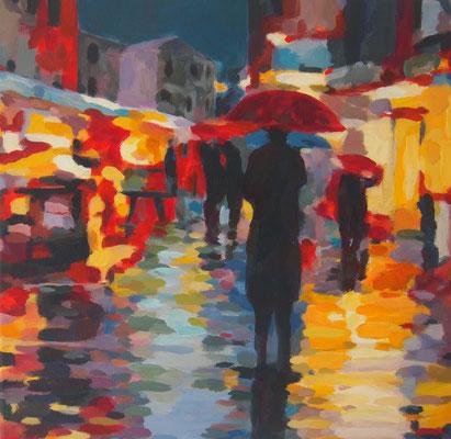 Nachtmarkt, Acryl auf Leinwand 40 x 40, 2014 (verkauft)