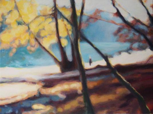 gleissendes Herbstlicht, Oel auf Leinwand, 60 x 80, 2018 (verkauft)