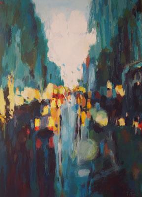 Regenpause, Acryl auf Leinwand, 50 x 70, 2014