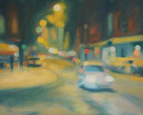 Ihre Strassen, Oel auf Leinwand, 50 x 40, 2017 (verkauft)