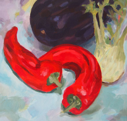 Gemüse, Acryl auf Leinwand 30 x 30, 2013