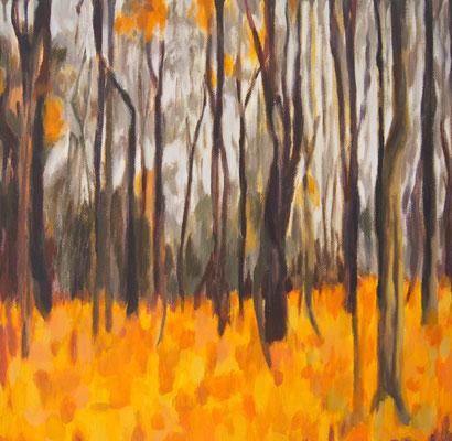 Herbstwald,  Acryl auf Leinwand 40 x 40, 2014