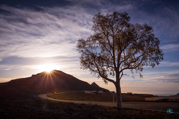 Sonnenaufgang oberhalb des Barranco de Tirajana