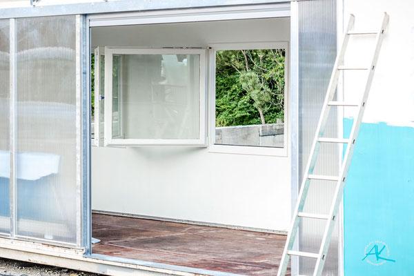 sogar die alten verwitterten Fenster haben wir wieder ganz ordentlich hinbekommen!