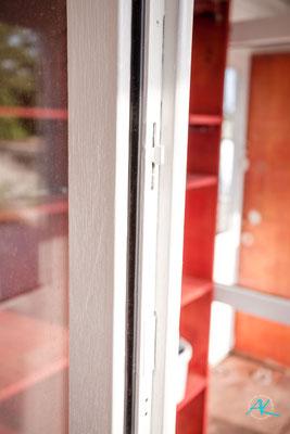 Die renovierten Werkstatt- Fenster, Detail
