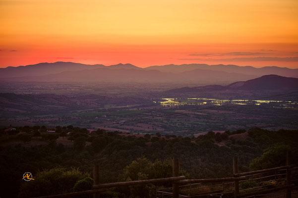"""Die Aussicht von Florian's """"Sonnenuntergangs- Bänkchen"""""""