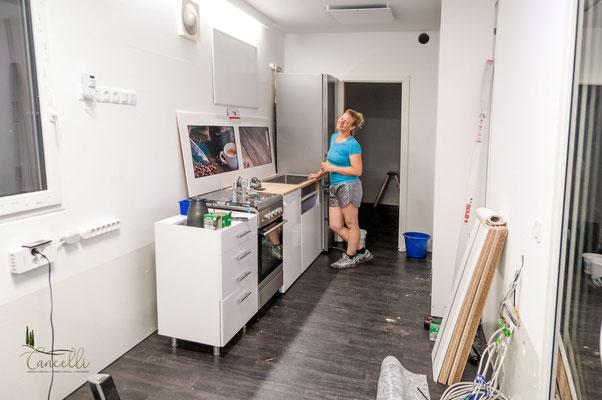 Die Küchenzeile macht Fortschritte