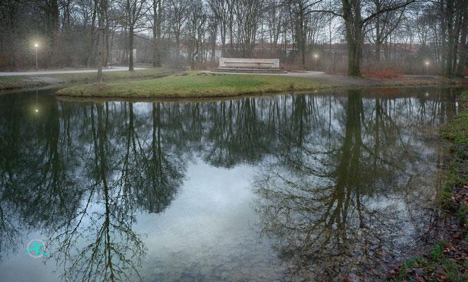 'Winterabendstimmung im Englischen Garten'