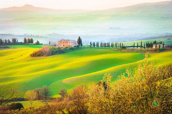 'Strahlender Morgen' Val D'Orcia, Toscana