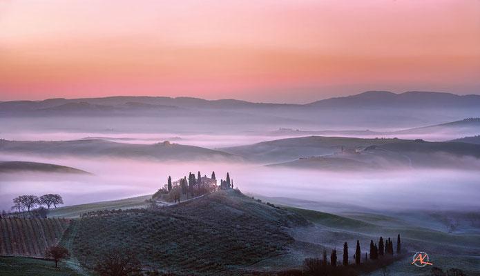 'Podere Belvedere im Morgennebel' Val D'Orcia, Toscana