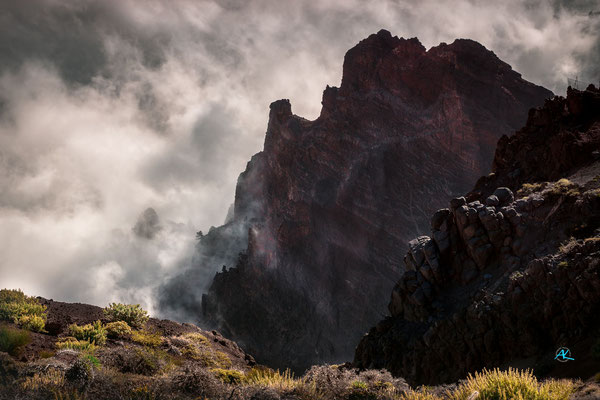 Ganz oben am Roque de los Muchachos
