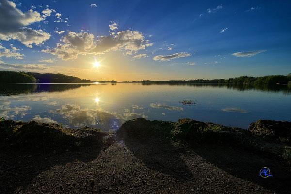 'Sonnenuntergang am Seehamer See'