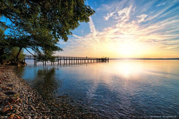 'Sonnenuntergang am Starnberger See'