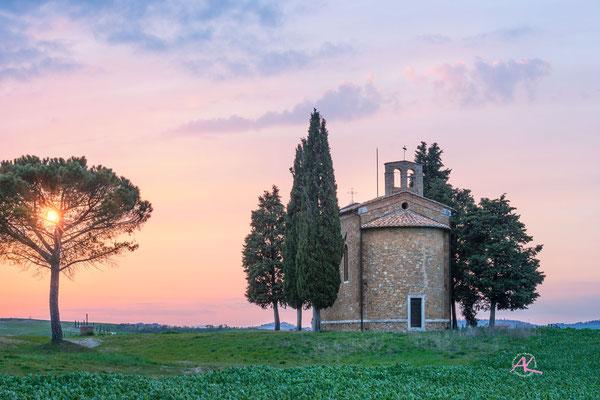 'Cappella Vitaleta' Val D'Orcia, Toscana