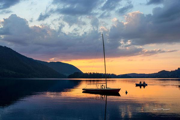 'Sonnenuntergang am Schliersee'