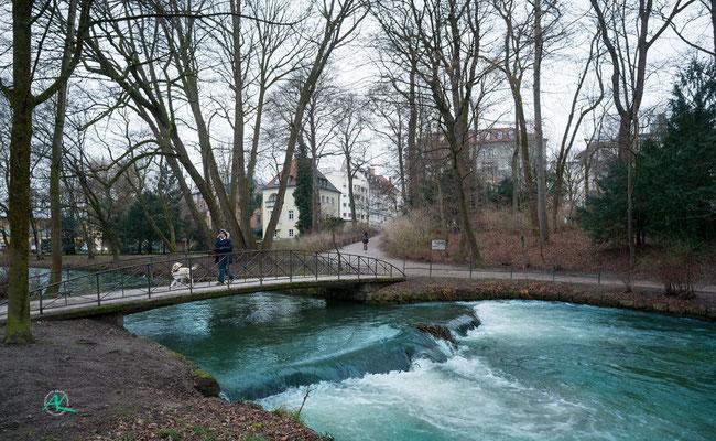 'Schwabinger Bach im Winter'