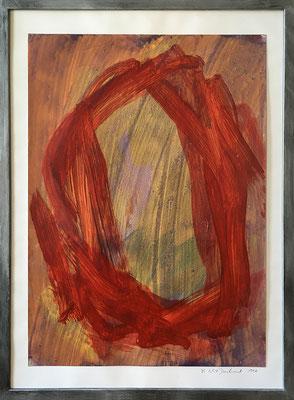 O.T I., 42,5 cm x 61 cm, Acryl auf Papier, 1990