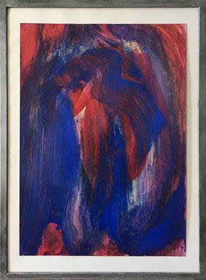 O.T., 42,5 cm x 61 cm, Acryl auf Papier, 1990