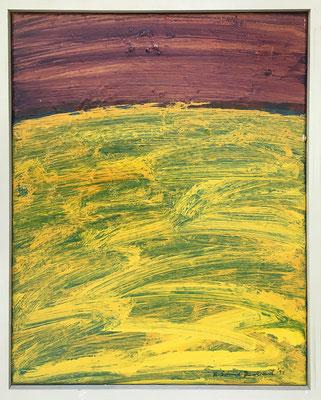 Kohlkopf I, 40 cm x 50 cm, Acryl auf Nessel, 7-1994
