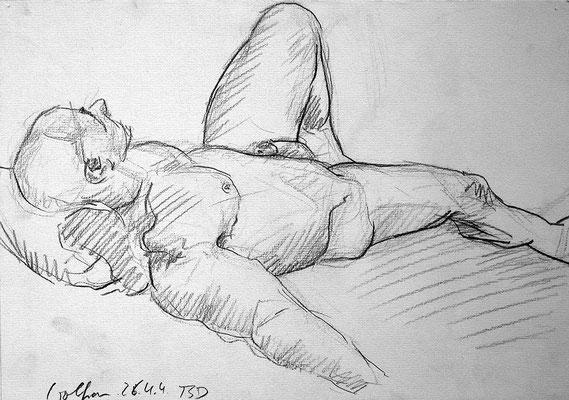 Wolfram, 42 cm x 30 cm, Graphit auf Papier, 26.4.2004
