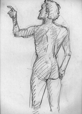 Manuel, 32 cm x 45 cm, Graphit auf Papier, 31.7.2006