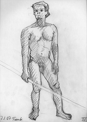 Frank, 32 cm x 45 cm, Graphit auf Papier, 7.1.2007