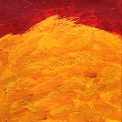 O sole mio, 40 cm x 40 cm, Acryl auf Nessel, 7-1991