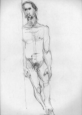 Eduardo, 45 cm x 32 cm, Graphit auf Papier, 2.10.2013