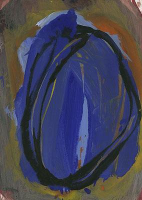 O.T., 21 cm x 29,7 cm, Acryl auf Papier, 1989