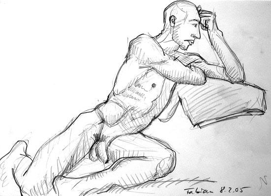 Fabien, 42 cm x 30 cm, Graphit auf Papier, 8.2.2005