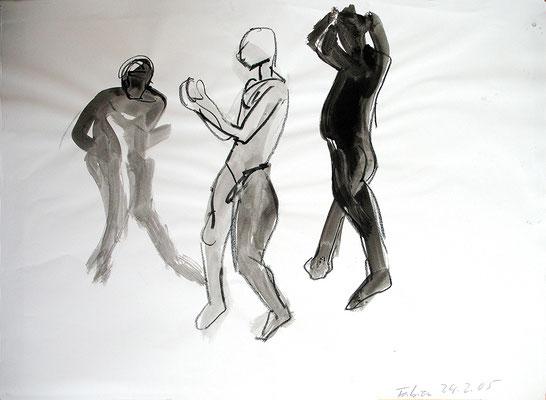 Fabien, 42 cm x 30 cm, Tusche auf Papier, 24.2.2005