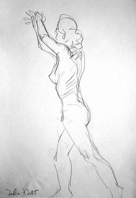 Julia, 42 cm x 30 cm, Graphit auf Papier, 7.3.2003
