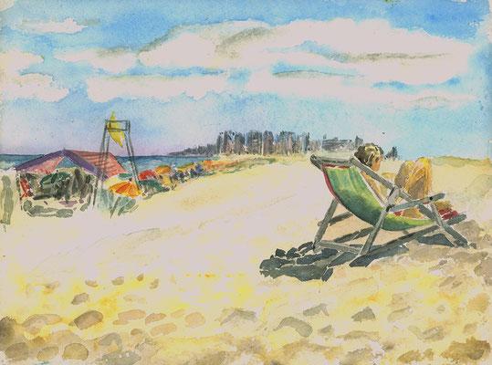 Punta del Este, Uruguay, 40 cm x 30 cm, Aquarell auf Papier, Dezember 1983