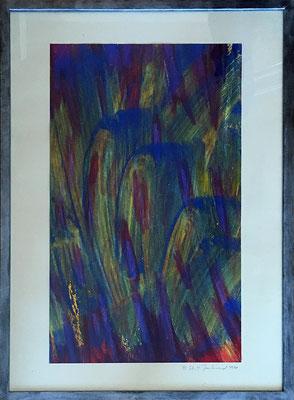 Sommerfrische., 42,5 cm x 61 cm, Acryl auf Papier, 1992