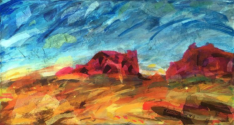 Sougia-Kreta, 60 cm x 100 cm, Acryl/Papier auf Nessel, 1996