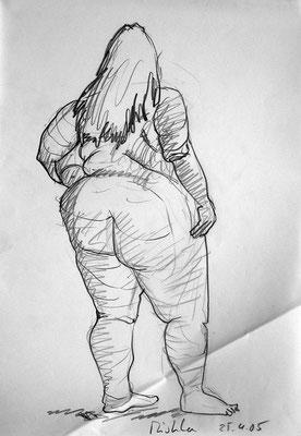 Mischka, 30 cm x 42 cm, Graphit auf Papier, 25.4.2005