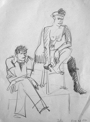 Julia, 42 cm x 30 cm, Graphit auf Papier, 27.10.2003