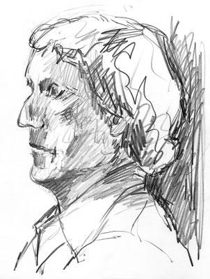 Uli P., 21 cm x 29,5 cm, Graphit auf Papier, 1980er
