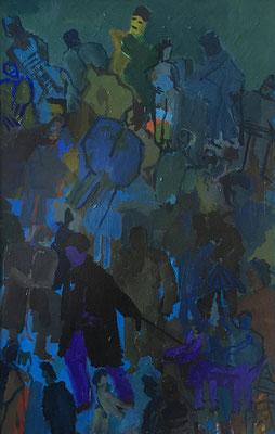Winterreise, 89 cm x 140 cm, Acryl auf Nessel, Jan. 1987
