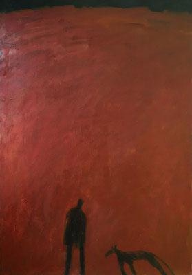 Der große Berg, 140 cm x 90 cm, Acryl-, Ölfarbe auf Nessel, 1987