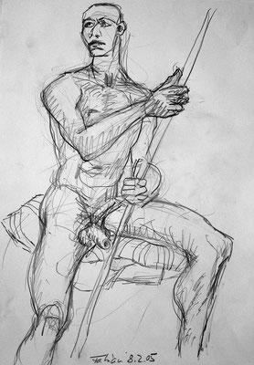 Fabien, 30 cm x 42 cm, Graphit auf Papier, 8.2.2005
