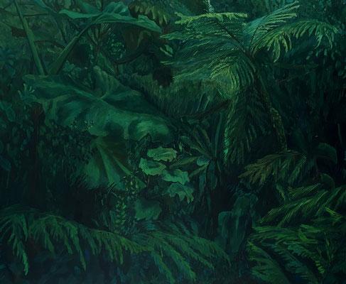 Costa Rica, 135 cm x 100 cm, Acrylfarbe auf Nessel, 4-1986
