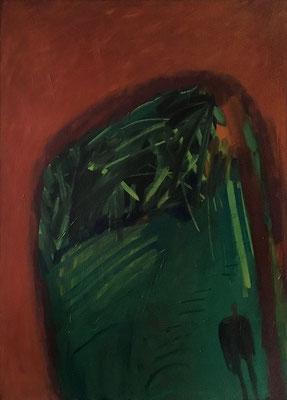 Im Wald, 108 cm x 150 cm, Acryl-, Ölfarbe auf Nessel, 1987