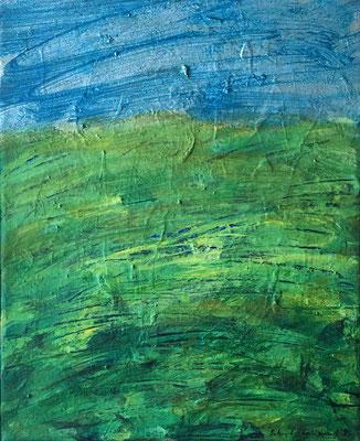 O,T., 40 x 50 cm, Acryl auf Nessel, 1995