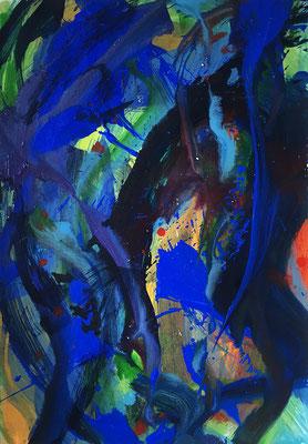 Wasser, 42,5 cm x 60 cm, Acryl auf Karton, 1992