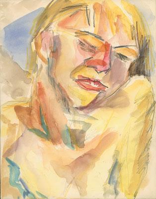 Johannes in Kreta, 24 cm x 31 cm, Aquarell & Graphit auf Papier, Sommer 1982
